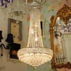 <B>【ALABASTER】</B>エンパイア型クリスタルシャンデリア 9灯(H80cm)