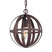 【TROY】アメリカデザインアイアンシャンデリア 1灯「Flatiron」(φ255×H300〜1520mm)