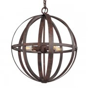 【TROY】アメリカデザインアイアンシャンデリア 4灯「Flatiron」(φ470×H533〜1750mm)