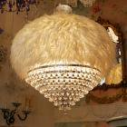 <B>【ALABASTER】</B>ホワイトフェザーシャンデリア 8灯(W1000×H900mm)
