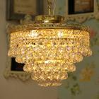<B>【JOSEF WRANOVSKY】</B>チェコクリスタルシーリングシャンデリア 4灯 ゴールド(W350×H420mm)