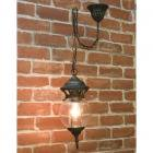 アンティーク調ペンダントランプ「ボール・ブロンズ」1灯(W170×H410mm)