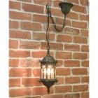 アンティーク調ペンダントランプ「オリエンタル・ブロンズ」1灯(W150×D150×H370mm)