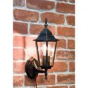 <b>【即納可!】</b>アンティーク調ウォールランプ「ヘキサゴン・ブロンズ」1灯(W170×D200×H350mm)