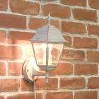 <b>【即納可!】</b>アンティーク調ウォールランプ「スクエア・ホワイト」1灯(W150×D200×H370mm)