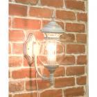 <b>【即納可!】</b>アンティーク調ウォールランプ「ボール・ホワイト」1灯(W170×D270×H460mm)