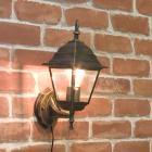 <b>【即納可!】</b>アンティーク調ウォールランプ「スクエア・ブロンズ」1灯(W150×D200×H370mm)