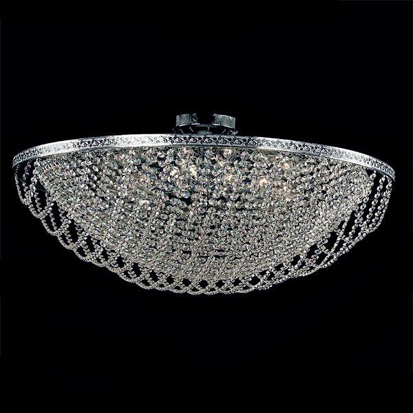 【Preciosa】最上級ブランドシーリングシャンデリア 12灯 シルバー(φ800×H330mm)