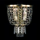 <b>【Preciosa】</b>最上級ブランドクリスタルブラケット 2灯 ゴールド(W230×H270×D120mm)