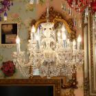 【LA LUCE】チェコorスワロフスキークリスタルシャンデリア 12灯 クロームorゴールド(W660×H580mm)
