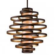 【CORBETT】アメリカ製デザインシャンデリア「Vertigo」4灯 ブロンズ色(W760×H810mm)