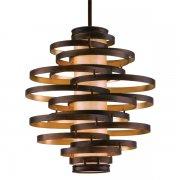 <B>【CORBETT】</B>アメリカ製デザインシャンデリア「Vertigo」3灯 ブロンズ色(W580×H590mm)