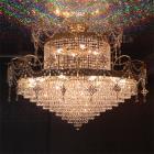 <B>【LA LUCE】</B>クリスタルシーリングシャンデリア 25灯 ゴールドorクローム(W1100×H900mm)