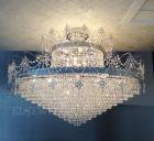 <B>【LA LUCE】</B>クリスタルシーリングシャンデリア 36灯 クローム(W1300×H1000mm)