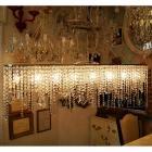 【在庫有!】 【LA LUCE】クリスタルラインシャンデリア 8灯(W1200×D150×H380mm)
