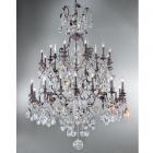 <B>【CLT】</B>チェコクリスタルシャンデリア『VERSAILLES』30灯 ブロンズ(W1470×H1800mm)