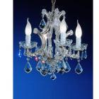 【CLT】クリスタルシャンデリア『MARIA THERESA』4灯 クローム(W410×H410mm)