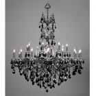 <B>【CLT】</B>クリスタルシャンデリア『Via Veneto』24灯 ブラック・パール(W1160×H1500mm)