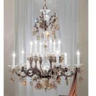 【CLT】スワロフスキーシャンデリア『Via Firenze』12灯 ロマン・ブロンズ(W780×H970mm)