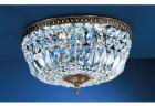【CLT】シーングシャンデリア『Crystal Baskets』5灯 ロマン・ブロンズ(W450×H220mm)
