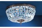 【CLT】シーリングシャンデリア『Crystal Baskets』5灯 ミレニアム・シルバー(W450×H220mm)