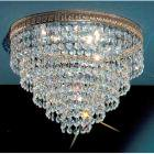 <B>【CLT】</B>シーングシャンデリア『Crystal Baskets』3灯ブロンズ(W300×H230mm)