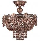 【CLT】シーリングスワロフスキーシャンデリア『Regency?』3灯 ロマン・ブロンズ(W330×H380mm)