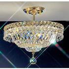 【CLT】シーリングクリスタルシャンデリア『Princess』3灯 ゴールド(W360×H330mm)