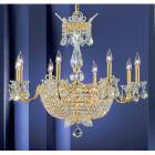 <B>【CLT】</B>クリスタルシャンデリア『Crown Jewels』24灯 ゴールド(W760×H660mm)
