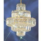 <B>【CLT】</B>クリスタルシャンデリア『Ambassador』12灯 ゴールド(W500×H530mm)