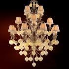 【CORBETT】アメリカ製デザインシャンデリア「Venetian」16灯 ATシルバー(W1080×H1520mm)