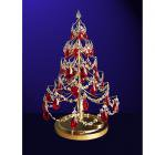 【CLT】クリスタルクリスマスツリー『Christmas Trees』1灯 ゴールド(W300×H530mm)
