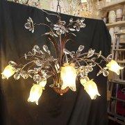<B>【在庫有】【LA LUCE】</B>デザインシャンデリア『Florentine』8灯 ブロンズ(W720×H470mm)