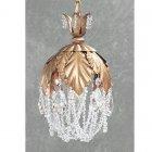 【CLT】ペンダントシャンデリア『Petite Fleur』1灯 ゴールド(W150×H250mm)