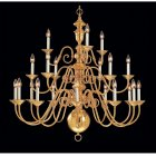 <B>【CLT】</B>デザインシャンデリア『Hermitage』21灯 ゴールド(W910×H970mm)