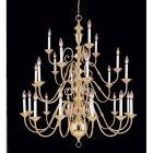 <B>【CLT】</B>デザインシャンデリア『Hermitage』24灯 ゴールド(W1070×H1190mm)