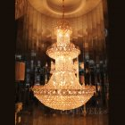 エンパイア型クリスタルシャンデリア 35灯 ゴールドorクローム(W810×H1500mm)