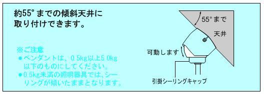 【取付部材】傾斜用引っ掛けシーリング (ホワイトorブラック):パナソニック