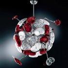 <B>【DeMajo】</B> イタリア製 デザイン・シャンデリア 14灯 (W700×H900mm)