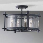 <B>【FEISS】</B>アメリカ製デザインシーリングシャンデリア「Ethan」4灯(W415×H266mm)