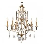 <B>【FEISS】</B>アメリカ製デザインクリスタルシャンデリア「Valentina」6灯(W724×H831mm)