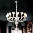【DeMajo】 イタリア製 デザイン・ヴェネチアンシャンデリア 16灯 (W1300×H1550mm)
