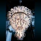 <B>【DeMajo】</B> イタリア製 デザイン・ヴェネチアンシャンデリア ホワイト 16灯 (W1200×H1400mm)