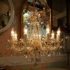 <B>【JOSEF WRANOVSKY】</B>チェコクリスタルシャンデリア 8灯 ゴールド(W570×H550mm)