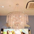<b>【LA LICE】</b> クリスタルラインシャンデリア 13灯クローム(φ1000×H600-450-300mm)