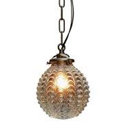 <b>【LAMPS】</b>ガラスシェードペンダントランプ1灯(W140×H685mm)