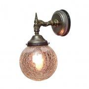 <b>【LAMPS】</B>屋外用 ガラスシェードウォールランプ 1灯(W160×D210×H300mm)