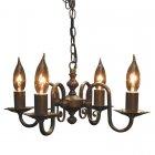 <b>【LAMPS】</b>アンティーク調アイアンシャンデリア 4灯(W340×D310×H180mm)