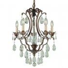 <B>【FEISS】</B>アメリカ製デザインクリスタルシャンデリア「Maison De Ville」5灯(W407×H572mm)