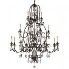 <B>【FEISS】</B>アメリカ製デザインクリスタルシャンデリア「Salon Maison」16灯(W1359×H1753mm)